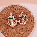 abordables Pendientes-Mujer Pendientes cortos / Pendientes colgantes - Chapado en Oro Ancla Personalizado, Moda Dorado Para Fiesta / Diario / Casual