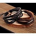 preiswerte Backformen-Herrn Damen Mehrschichtig Wickelarmbänder - Leder Mehrlagig Armbänder Schwarz / Kaffee Für Alltag Normal