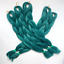 """זול צמות שיער-פיתולי סנגל 1pc / Kanekalon הרבה 24 """"80g הכהה צבע ירוק Xpression תיבת ג'מבו סינטטי קולעת שיער"""