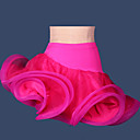 זול בגדי ריקוד לילדים-ריקוד לטיני שמלות וחצאיות בגדי ריקוד נשים הצגה חוטי זהורית / פוליאסטר / ספנדקס קפלים חצאית / סמבה