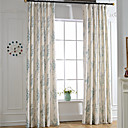 cheap Curtains Drapes-Curtains Drapes Bedroom Linen / Polyester Blend Print & Jacquard