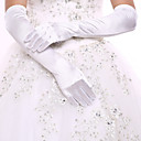 cheap Party Gloves-Spandex / Cotton Wrist Length / Opera Length Glove Charm / Stylish / Bridal Gloves With Embroidery / Solid