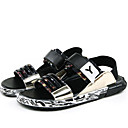 cheap Women's Sandals-Men's Shoes Patent Leather Summer Fall Comfort Sandals Water Shoes for Casual Outdoor Dress Black