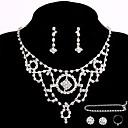 זול סטים של תכשיטים-בגדי ריקוד נשים אחרים סט תכשיטים טבעות / עגילים / שרשראות - רגיל עבור חתונה / Party / אירוע מיוחד