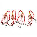 baratos Ganchos de Pesca-Acessórios de pesca Pesca - 4 pçs - Fácil Uso Aço Inoxidável /Ferro - Pesca de Mar Pesca Voadora Isco de Arremesso Pesca no Gelo Pesca de