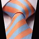 billige Tilbehør til herrer-Herre Fest Kontor Grunnleggende Slips Stripet Polyester