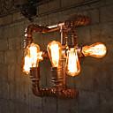 baratos Arandelas de Parede-Rústico / Campestre Luminárias de parede Metal Luz de parede 110-120V / 220-240V max60w