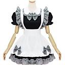Χαμηλού Κόστους Zentai-Γοτθική Λολίτα Γυναικεία Maid Suits Cosplay Λευκό / Μαύρο Κοντομάνικο Κοντό Μήκος Κοστούμια Halloween