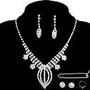 baratos Conjuntos de Bijuteria-Mulheres Outros Conjunto de jóias Anéis / Brincos / Colares - Regular Para Casamento / Festa / Ocasião Especial