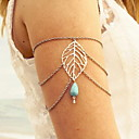 cheap Anklet-Body Chain, Arm Cuff / Arm bands Turquoise Drop Tassel, Vintage, Casual Women's Silver Body Jewelry For Daily