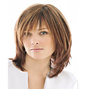 cheap Hair Pieces-Synthetic Wig Wavy Synthetic Hair Brown Wig Women's Short Capless Brown