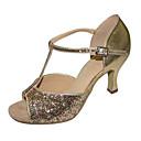 halpa Dance Boots-Naisten Lattarikengät Paljetti / Tekonahka Sandaalit / Korkokengät Paljeteilla Kuubalainen korko Ei räätälöitävissä Tanssikengät Punainen