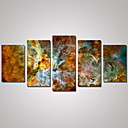 cheap Stretched Canvas Prints-Print Rolled Canvas Prints - Landscape Maps Abstract Landscape Traditional Five Panels