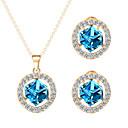 cheap Earrings-Women's Cubic Zirconia Jewelry Set - Zircon, Rhinestone Include Green / Blue / Champagne For Wedding Party Daily / Earrings / Necklace