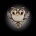 halpa Muoti-rintaneulat-Rintaneulat - Owl Muoti Rintaneula 1 / 4 / Hopea / musta Käyttötarkoitus Party / Erikoistilaisuus / Syntymäpäivä