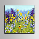 cheap Rolled Canvas Paintings-Oil Painting Hand Painted - Floral / Botanical Mediterranean With Stretched Frame