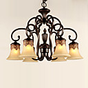 cheap Chandeliers-6-Light Chandelier Ambient Light Painted Finishes Metal Glass Crystal 110-120V / 220-240V Bulb Not Included / E26 / E27