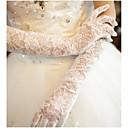 preiswerte Handschuhe für die Party-Spitze / Baumwolle Handgelenk-Länge / Ellenbogen Länge Handschuh Charme / Stilvoll / Brauthandschuhe Mit Stickerei / Einfarbig
