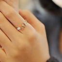 זול Fashion Ring-בגדי ריקוד נשים טבעת הצהרה - יהלום מדומה, סגסוגת תו מוסיקלי פתוח 7 כסף / מוזהב עבור Party / יומי / קזו'אל