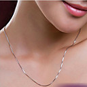cheap Earrings-Women's Chain Necklace - Silver Plated Silver Necklace For Wedding, Party, Daily