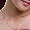 povoljno Modne ogrlice-Žene Lančići dame Jednostavan Glina Pink Ogrlice Jewelry Za Vjenčanje Party Dnevno Kauzalni