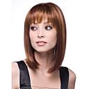お買い得  人工毛キャップレスウィッグ-人工毛ウィッグ ストレート スタイル キャップレス かつら ブラウン Brown 合成 女性用 ブラウン かつら ショート ハロウィンウィッグ