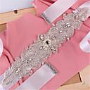 ieftine Panglici de Nuntă-Satin Nuntă Party / Seara Zilnice Cercevea With Piatră Semiprețioasă Mărgele Perle Paiete Pentru femei Panglici