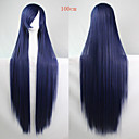 cheap LED Bulbs-Synthetic Wig Straight Asymmetrical Haircut Synthetic Hair Natural Hairline Blue Wig Women's Long Capless