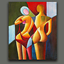 cheap Travel Health-Oil Painting Hand Painted - Abstract Portrait European Style Canvas