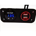 cheap Speakers-Digital Voltmeter and Dual USB Car Charger, New Products, with Waterproof Function.