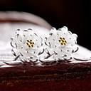 preiswerte Modische Ohrringe-Damen Ohrstecker - Sterling Silber, Silber Blume Geburtssteine Gold / Silber Für Hochzeit Party Alltag