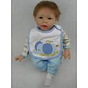 preiswerte Puppen-NPK DOLL Lebensechte Puppe Baby 22 Zoll Silikon Vinyl - Neugeborenes lebensecht Niedlich Handgefertigt Kindersicherung Non Toxic Kinder Mädchen Spielzeuge Geschenk / lieblich / ASTM / Floppy Head