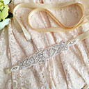 cheap Ring Pillows-Satin Wedding Party / Evening Dailywear Sash With Rhinestone Crystal Beading Pearl Sequin Women's Sashes