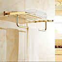 cheap Shower Accessories-Bathroom Shelf Contemporary Brass 1 pc - Hotel bath Double