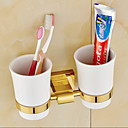 cheap Anime Cosplay Accessories-Toothbrush Holder Neoclassical Brass 1 pc - Hotel bath