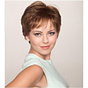 cheap Synthetic Wigs-Synthetic Wig Wavy Synthetic Hair Brown Wig Women's Short Capless
