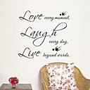 preiswerte Nagel Strass & Dekorationen-Landschaft Romantik Mode Formen Feiertage Worte & Zitate Cartoon Design Fantasie Wand-Sticker Worte & Zitate Wandaufkleber Dekorative