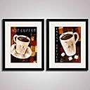 זול הדפסים-דפוס אומנות ממוסגרת קאנבס ממוסגר סט ממוסגר מופשט טבע דומם מזון ומשקאות חג Leisure וול ארט, PVC חוֹמֶר עם מסגרת קישוט הבית אמנות מסגרת