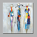 cheap Abstract Paintings-Oil Painting Hand Painted - People Modern Canvas