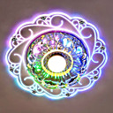 cheap Ceiling Lights-Flush Mount Ambient Light - Crystal, LED, 220-240V, Blue / White / Multi Color, Bulb Included / 10-15㎡ / LED Integrated