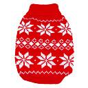 abordables Disfraces de Navidad para mascotas-Perro Suéteres Ropa para Perro Copo Rojo / Azul Tejido de lana Disfraz Para mascotas Hombre / Mujer Mantiene abrigado / Navidad / Año Nuevo