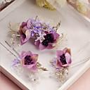 رخيصةأون أزهار الزفاف-قماش / سبيكة دبوس للشعر مع 1 زفاف / مناسبة خاصة خوذة