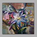 cheap Floral/Botanical Paintings-Oil Painting Hand Painted - Still Life Realism Canvas