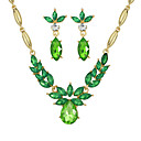 cheap Jewelry Sets-Women's Jewelry Set - Regular Include Coffee / Green / Blue For Party / Daily / Earrings / Necklace / Crystal