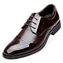 cheap Wedding Shoes-Men's Formal Shoes Patent Leather Spring / Fall Comfort Oxfords Black / Brown