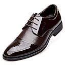 olcso Menyasszonyi cipők-Férfi Formális cipők Lakkbőr Tavasz / Ősz Kényelmes Félcipők Fekete / Barna