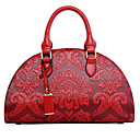 cheap Totes-Women's Bags PU Tote / Shoulder Bag Embossed Red / Green / Blue