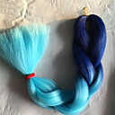 cheap Hair Braids-1 12packs mutil color braiding hair high temperature braiding hair 100g pcs synthetic braiding hair extensions
