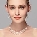 זול סטים של תכשיטים-בגדי ריקוד נשים ריינסטון סט תכשיטים - אחרים כסף