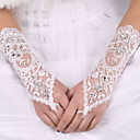 cheap Wedding Flowers-Elastic Satin / Silk Elbow Length Glove Bridal Gloves With Bowknot